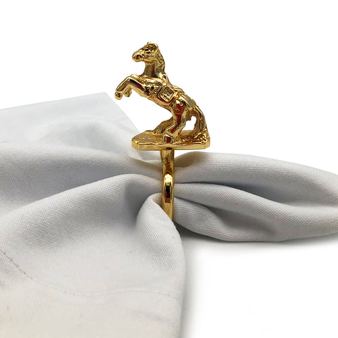 Luxurious Horse Napkin Rings-Set of 6