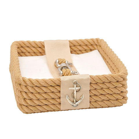 Nautical Rope Napkin Holder-Beige