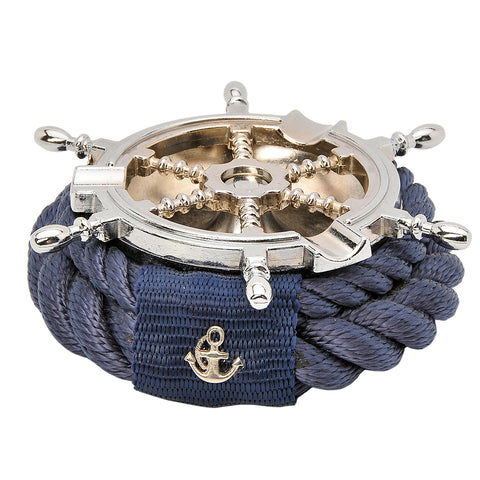 Nautical Rope Rudder Ashtray-Blue