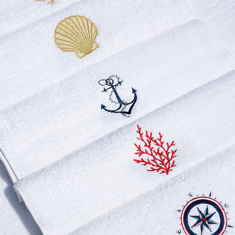 Embroidery Hand Towel Anchor