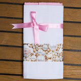 Marine Kitchen Towel Set - Pink Pearls
