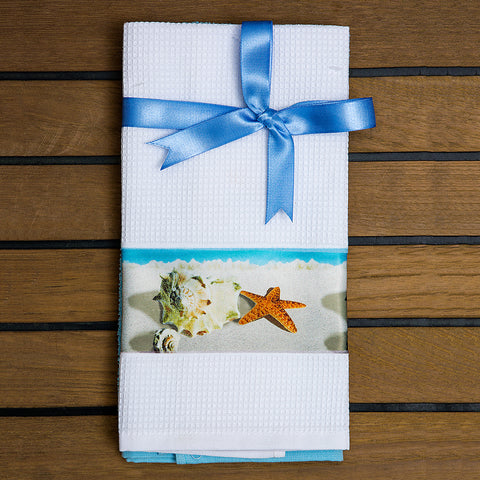 Marine Kitchen Towel Set - Fine Beach