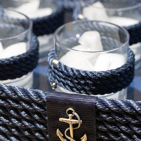 Nautical Rope Tray Set-Blue