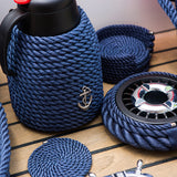 Nautical Rope Thermal Coffee Carafe-Blue