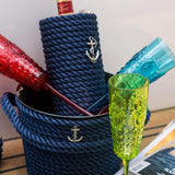 Nautical Champagne Bucket-Blue