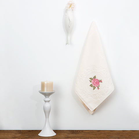 White Candle Holder