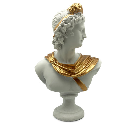 Apollon Statue-White and Gold