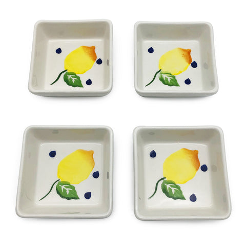 Blue Lemonade Appetiser Plates-Set of 4