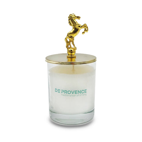 Golden Horse Vanilla Scented Glass Candle