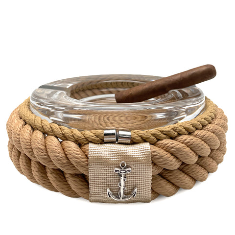 Nautical Rope Cigar Ashtray-Beige