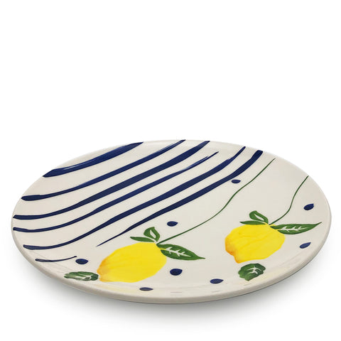 Blue Lemonade Serving Plate