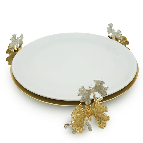 Butterfly Porcelain Cake Stand