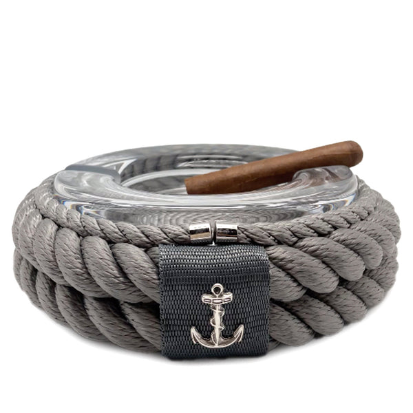 Nautical Rope Cigar Ashtray-Silver