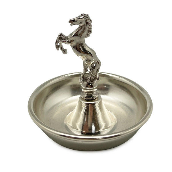 Silver Horse Condiment Bowl