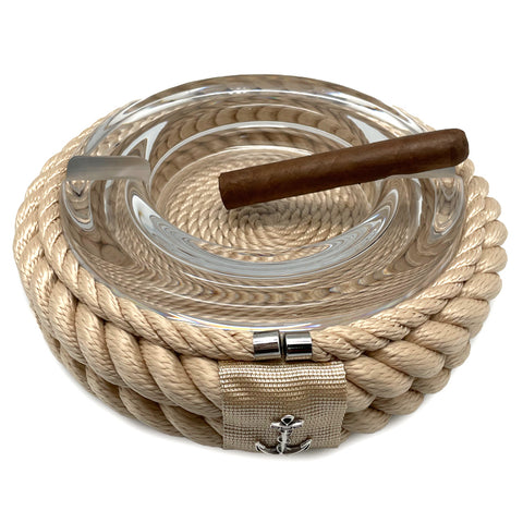 Nautical Rope Cigar Ashtray-Cream