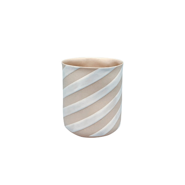 Fine Porcelain Artisan cup - Classic Large Yellow White