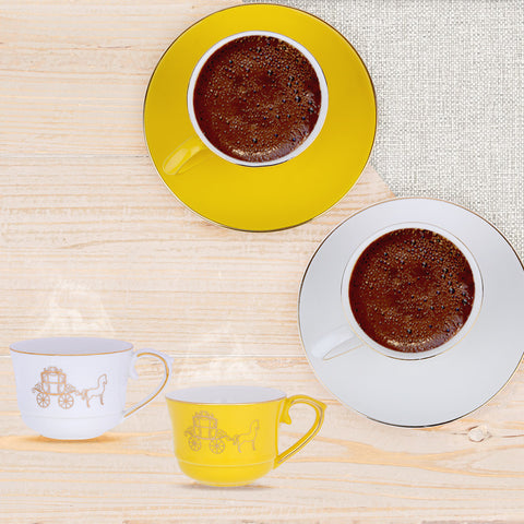 Amber Horse Coffee Cups-Set of 6