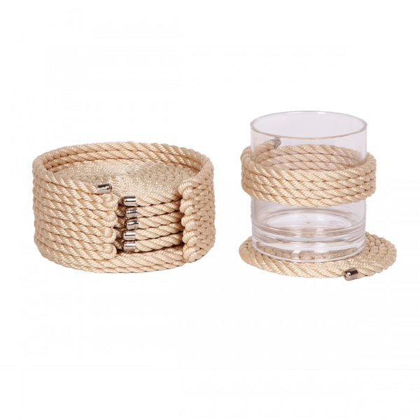 Nautical Rope Coaster Set-Cream