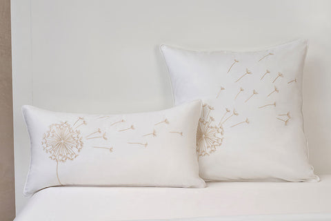 white dandelion cushion