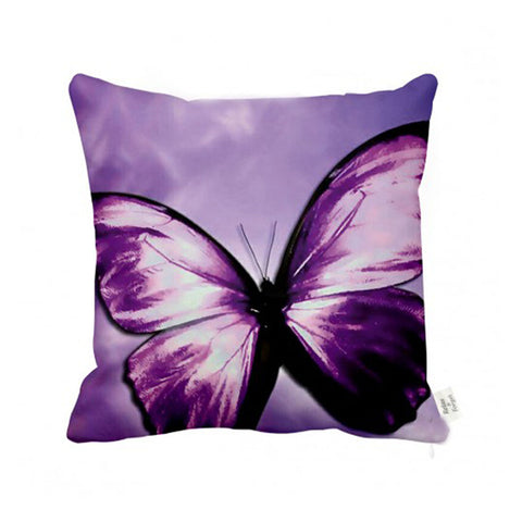 Madame Butterfly Cushion Violet Purple