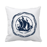 Maritime Cushion Blue and White