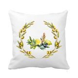 Olive Cushion Green and Yellow