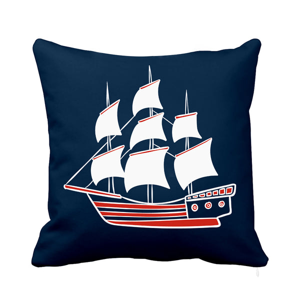 Sailor Cushion  Blue and White