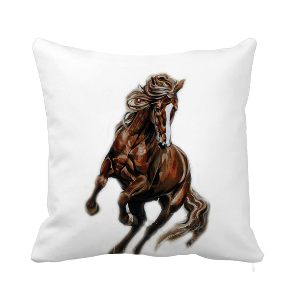 Majesty Cushion Brown Horse and White