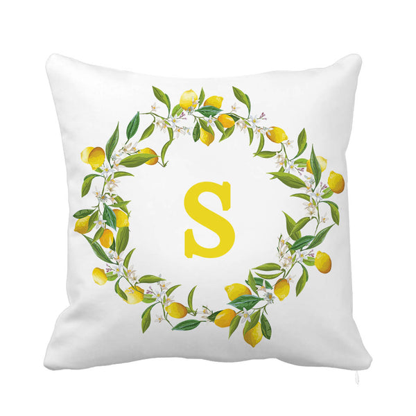 Lemon Signature Cushion-Letter S