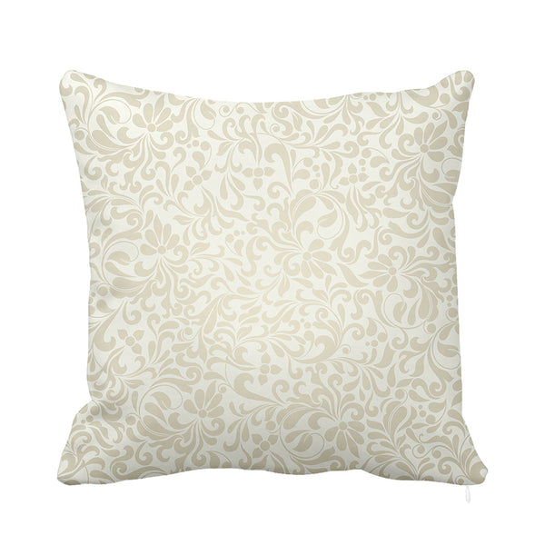 Fine Occitan Cushion White and Grey