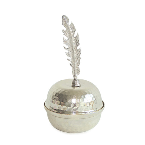 Feather Bowl-Silver
