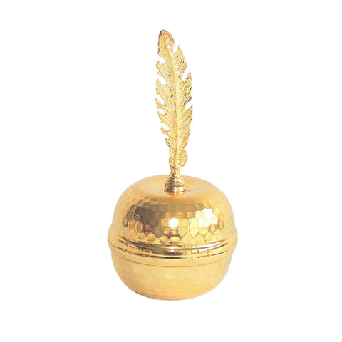 Feather Bowl-Gold