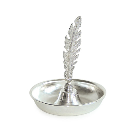 Feather Condiment Bowl-Silver