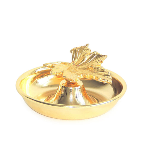 Leaf Condiment Bowl-Gold
