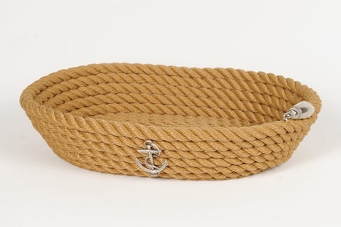 Nautical Rope Oval Basket-Beige