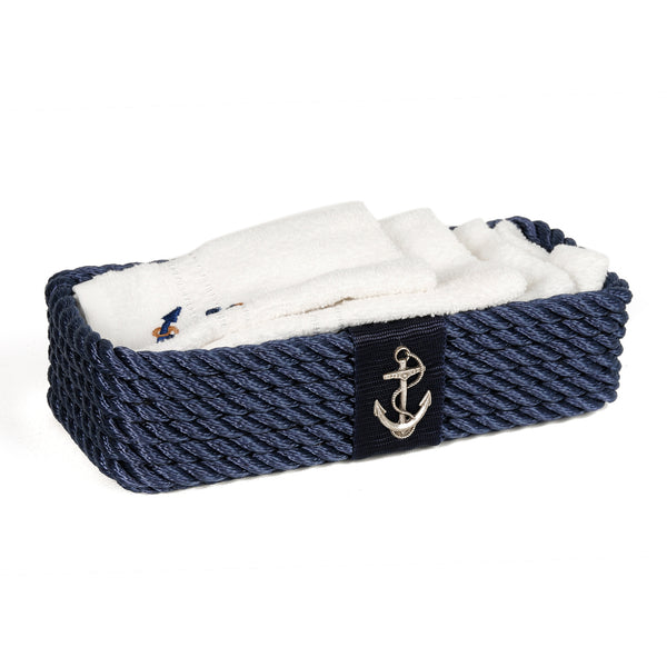 Luxe Nautical Basket Blue