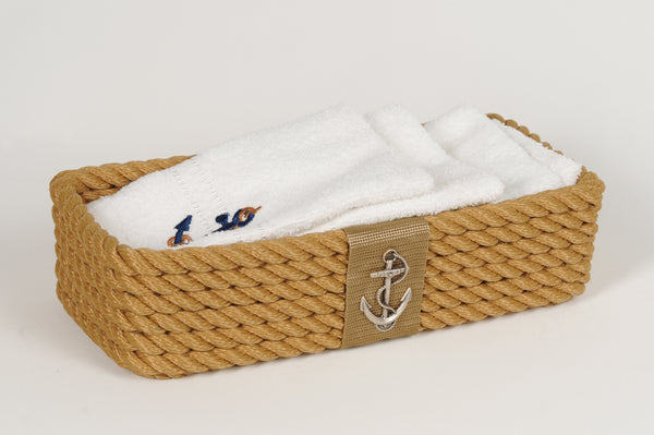 Luxe Nautical Basket Beige