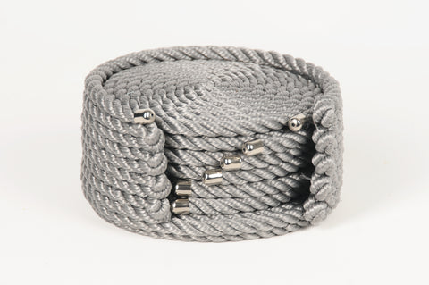 Nautical Rope Coaster Set-Silver