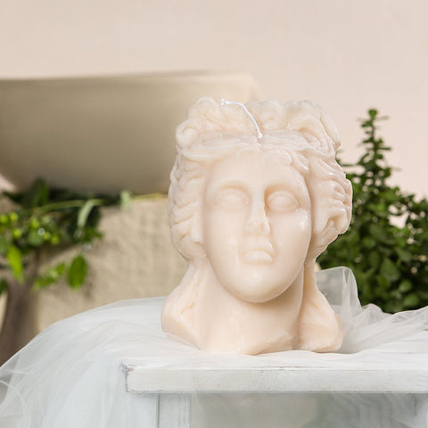 The symbol of love, beauty, and pleasure, this Aphrodite candle is a true piece of art. Beautifully crafted and very decorative. To create an exceptional and timeless setting, full of history and romance.