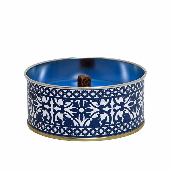 Azure Citronella Candles that will keep away the bugs and mosquitos from you. It comes in beautiful colors and a timeless blue and white tin sure to add charm to your space. Match them with our Azure Flower Pots for the best look.