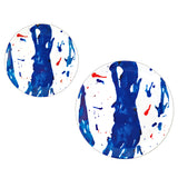 designer melamin salad plate set blue art