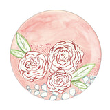designer dinner plate melamin set rose