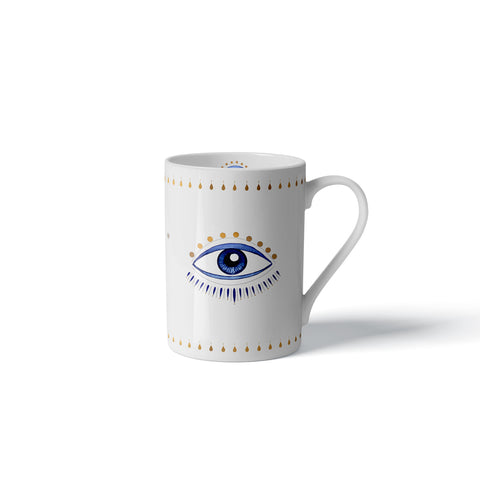 Blue Eye Mug-24k Gold