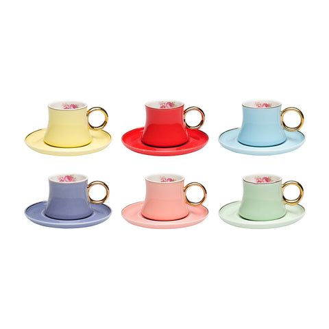Fiesta Coffee Cups - Set of 6