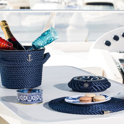 Champagne Ice Bucket  Blue