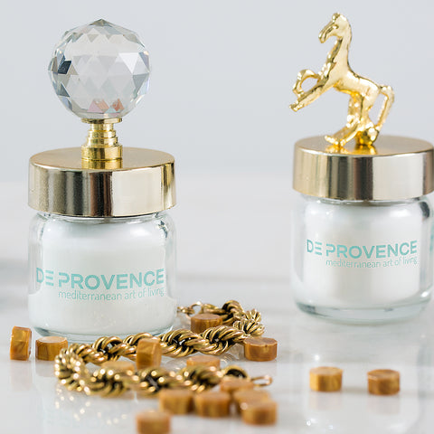 Gold Crystal Vanilla Scented Jar Candle