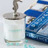 Silver SeaHorse Vanilla Scented Glass Candle
