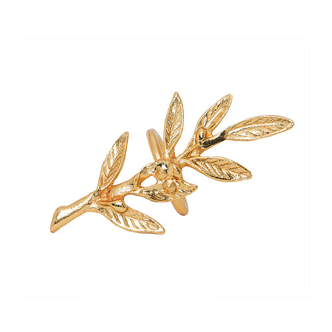Gold Olive Napkin Rings Set of 6