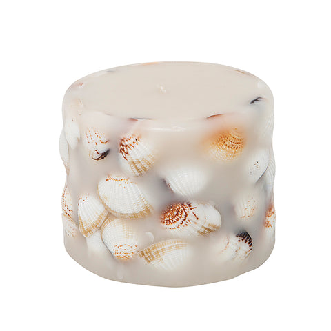 Shell Pillar Candle-Large