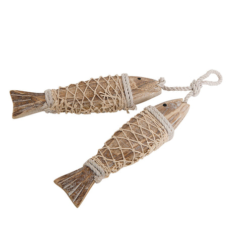Wood Fish Wall Decor